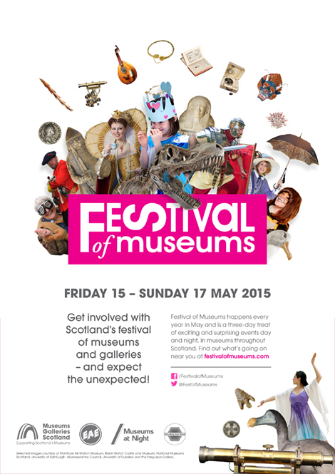 Festival of Museums event poster with full collage design