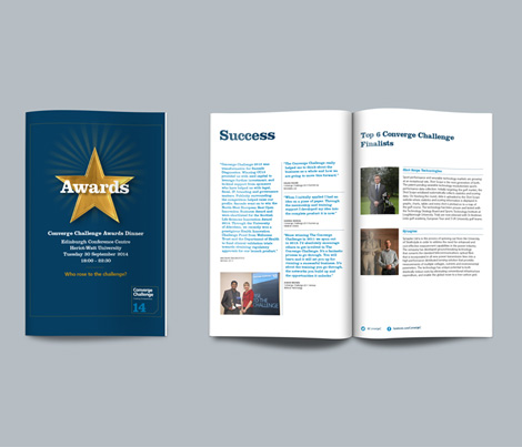 The Awards brochure 2014 cover design and printed publication