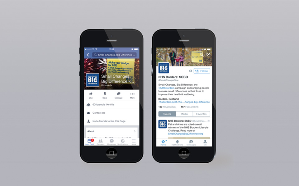 Social media feeds for campaign displayed on mobile devices