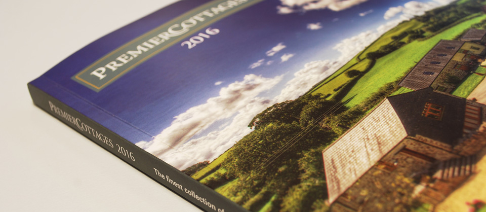 Premier Cottages 2016 brochure, showcasing the front cover
