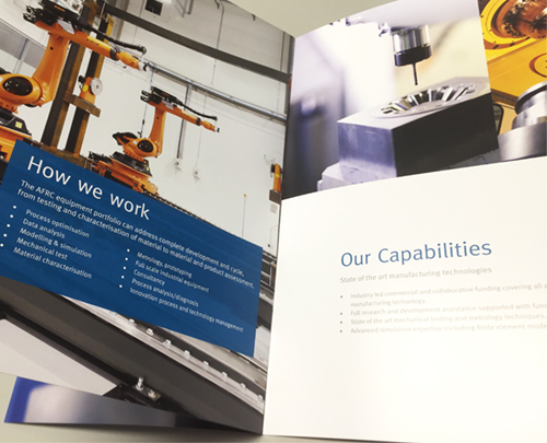 new capability brochure for the advance forming research centre
