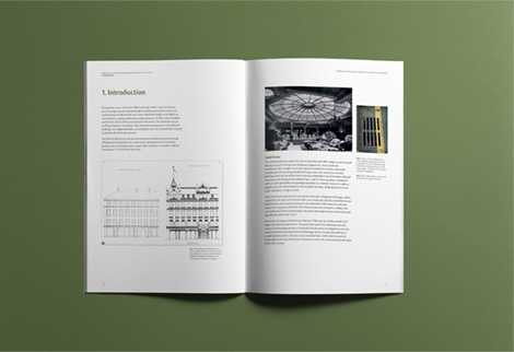Introductory spread designed to display photography, text and illustration