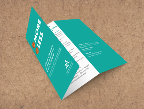 Information leaflet, designed and printed as part of the campaign