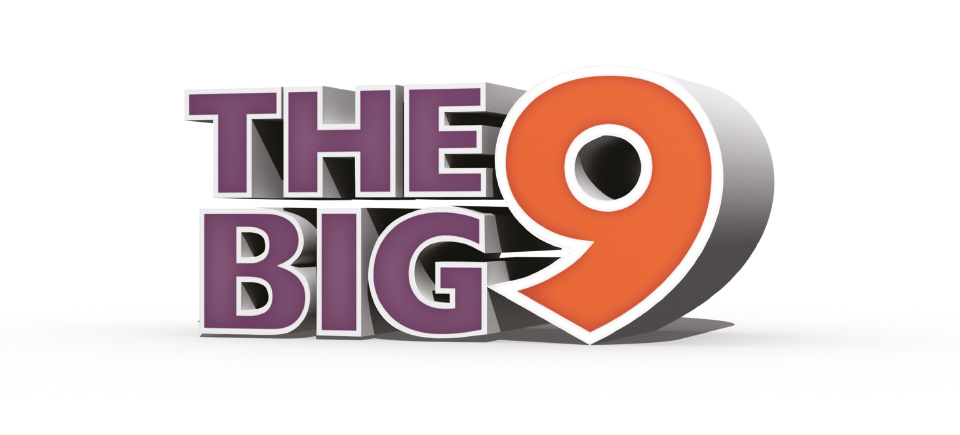 The final design of The Big 9 logo