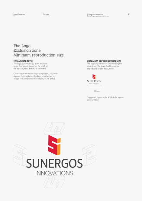 Logo reproduction as set out in the brand guidelines